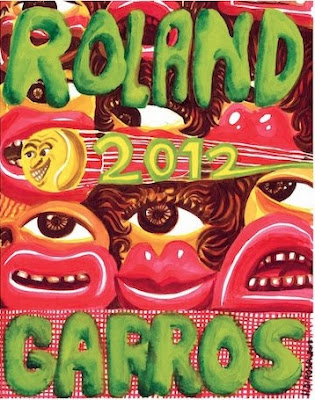 L'affiche officielle de Roland Garros 2012