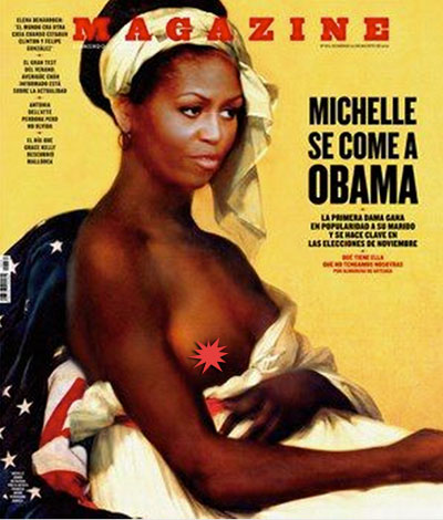 Michelle Obama topless. Are you serious ?