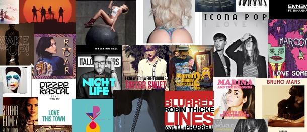 Les 50 chansons de 2013