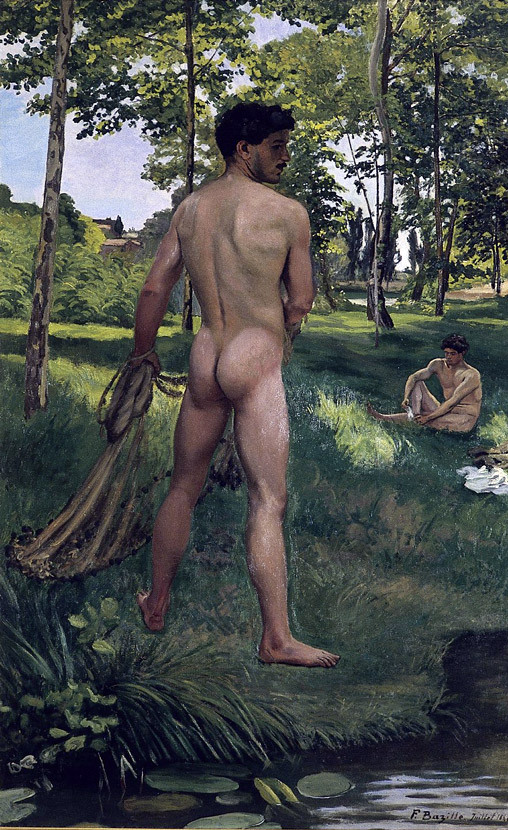 bazille-fisherman-with-a-net-1868