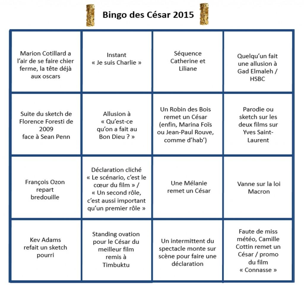 bingo des césar 2015