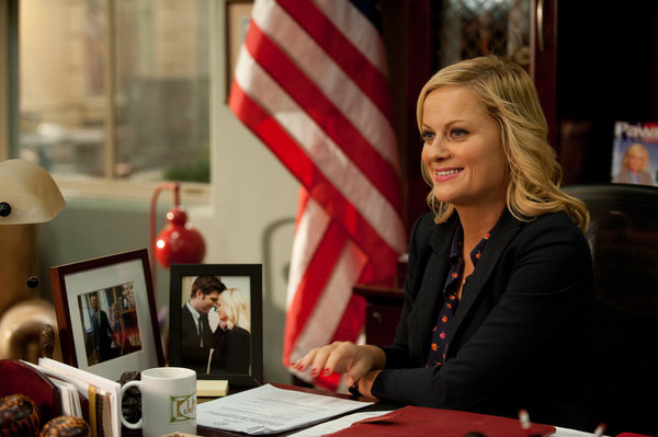 "PARKS AND RECREATION -- ""Leslie vs. April"" Episode 507 -- Pictured: Amy Poehler as Leslie Knope -- (Photo by: Colleen Hayes/NBC)"