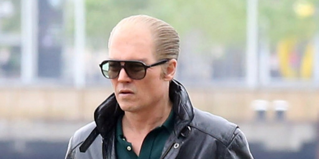 Actor Johnny Depp is back in costume as Whitey Bulger as filming resumes on 'Black Mass' in Boston, Massachusetts