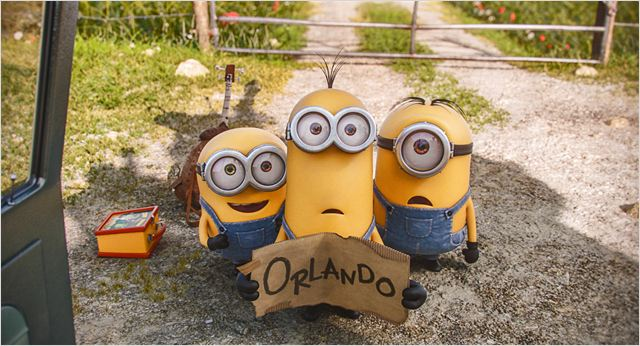 minions hitch hiking to orlando