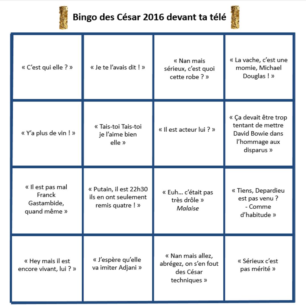 bingo césar 2016 TV