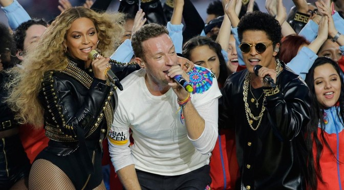 Coldplay, Bruno Mars & Beyoncé Super Bowl Halftime Show 2016