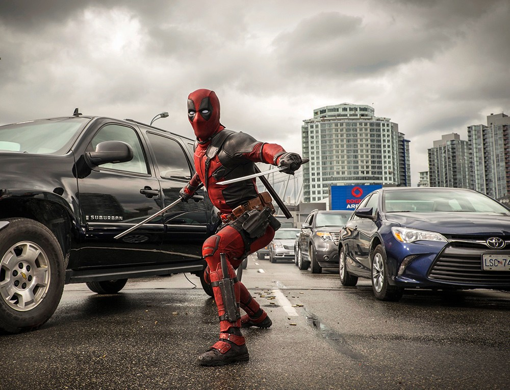 deadpool car crash